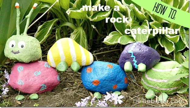 Garden Rock Caterpillar | Simple DIY Crafts For Kids