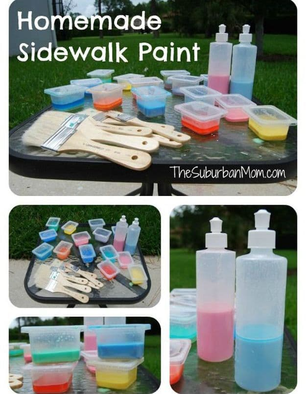 Homemade Sidewalk Chalk Paint | Simple DIY Crafts For Kids