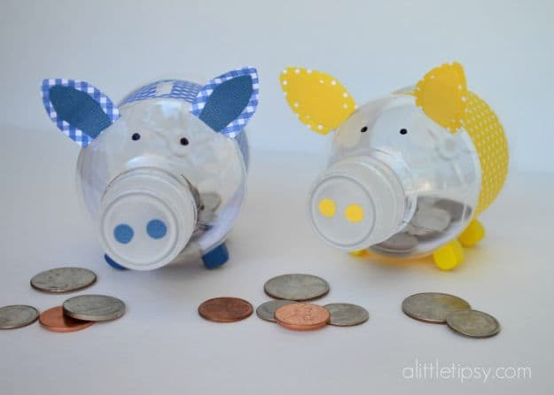 Water Bottle Piggy Bank | Simple DIY Crafts For Kids
