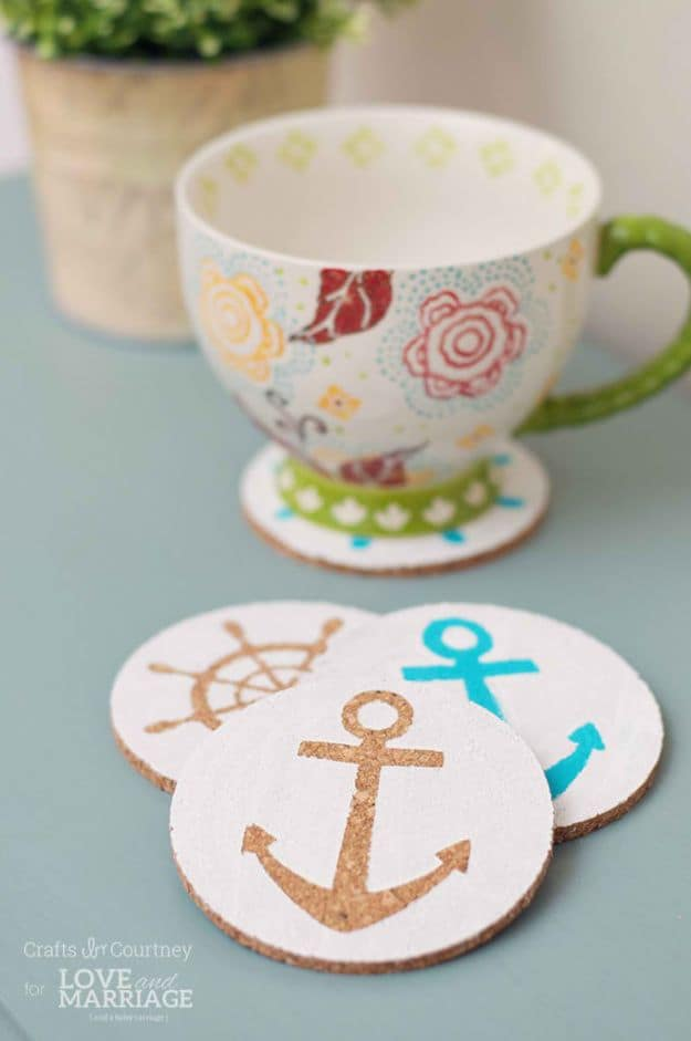 Nautical Coasters | Easy Crafts To Make And Sell