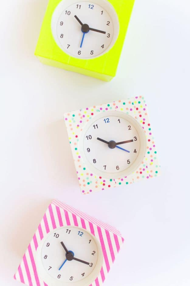 Washi Tape Clocks | Easy Crafts To Make And Sell