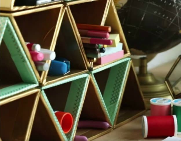 Easy Triangle Organizer | Nifty DIY Desk Organizer Ideas To Keep You Productive
