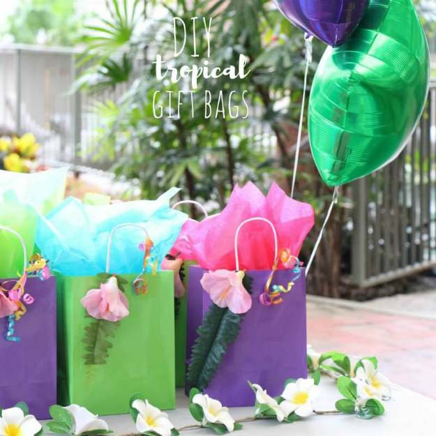 summer colorful gift bags DIY | The Best Kids' Party Ideas For All Occasion
