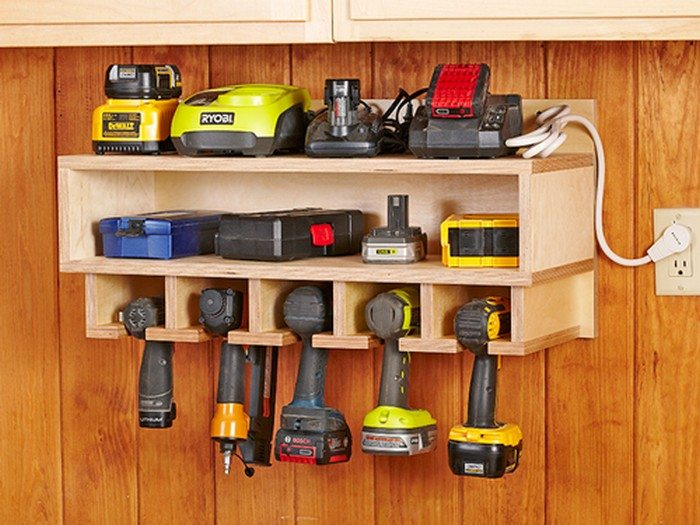 cordless drill storage and charging