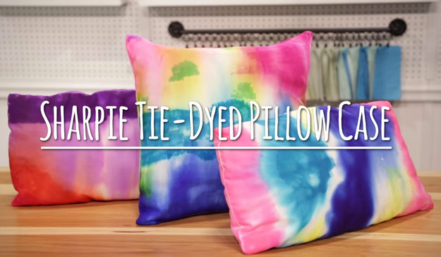 Cute DIY Room Decor Ideas for Teens - DIY Bedroom Projects for Teenagers - Sharpie Tie Dye Pillow Case