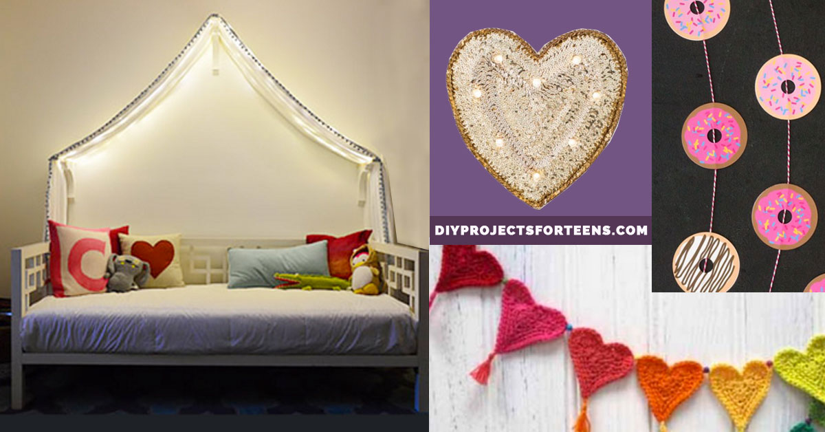 37 Insanely Cute Teen Bedroom Ideas for DIY Decor   Crafts ... on Simple But Cute Room Ideas  id=89190