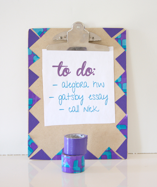 DIY School Supplies You Need For Back To School - Clip Board Makeover - Cuter, Cool and Easy Projects for Teens, Tweens and Kids to Make for Middle School and High School. Fun Ideas for Backpacks, Pencils, Notebooks, Organizers, Binders http://diyprojectsforteens.com/diy-school-supplies