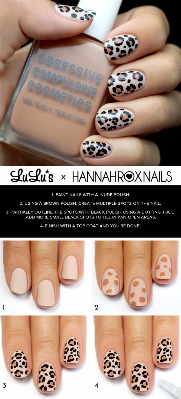 Awesome Nail Art Patterns And Ideas Leopard Print Tutorial Step By Diy