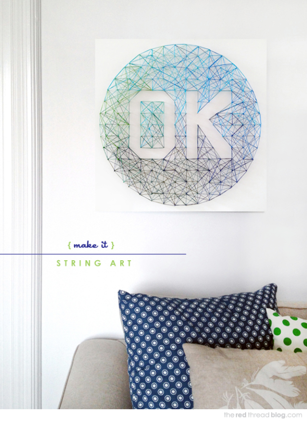 Diy String Art Projects Ombre Cool Fun And Easy Letters