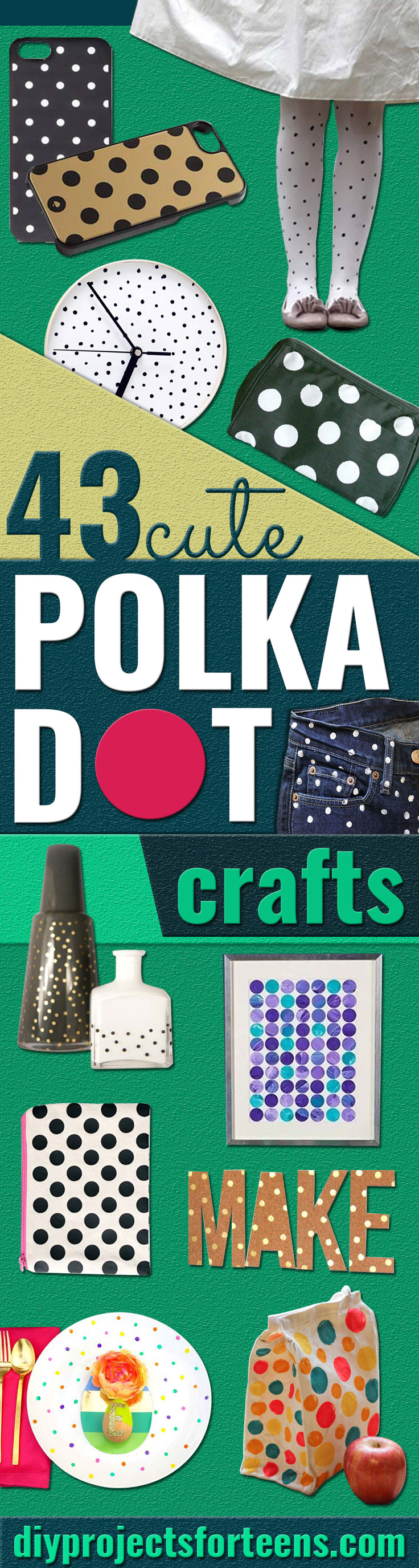 43 Adorably Cute Polka Dots Crafts