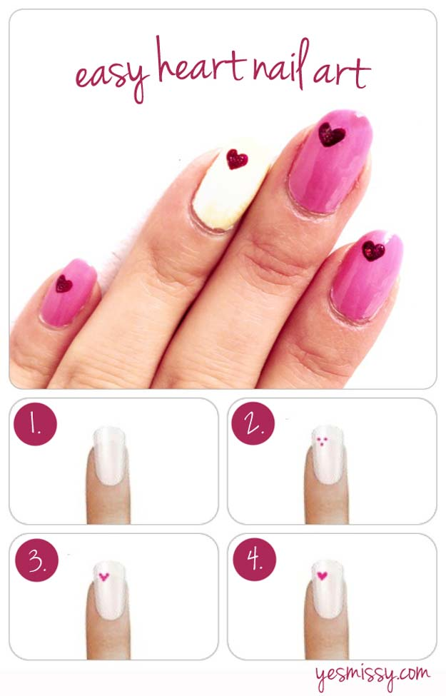 Valentine Nail Art Ideas How To Create Heart Designs Cute And Cool Looks