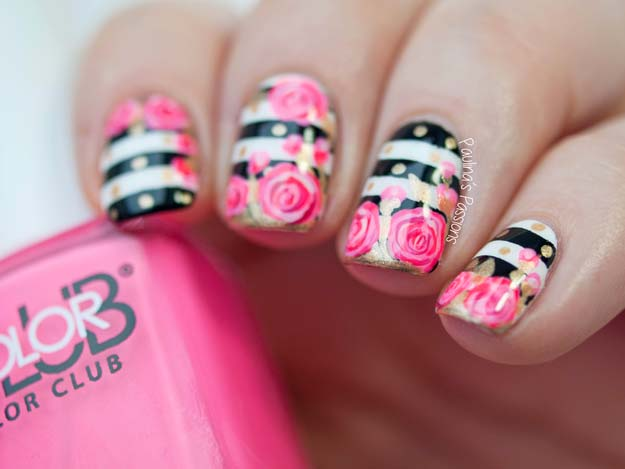 Valentine Nail Art Ideas S Roses Tutorial Cute And Cool Looks For
