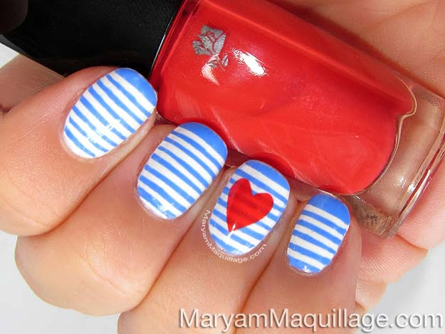 Non Red 20 Ridiculously Cute Valentine S Day Nail Art Designs
