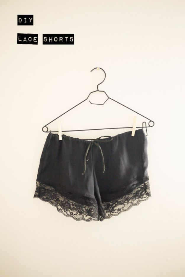 Cool Summer Fashions for Teens - DIY Lace Shorts - Easy Sewing Projects and No Sew Crafts for Fun Fashion for Teenagers - DIY Clothes, Shoes and Accessories for Summertime Looks - Cheap and Creative Ways to Dress on A Budget http://diyprojectsforteens.com/diy-summer-fashion-teens