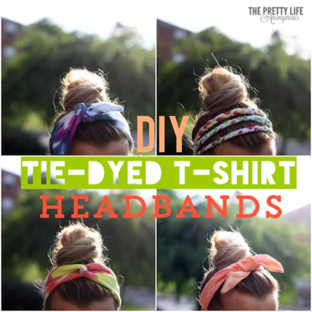 Cool Summer Fashions for Teens - DIY Tie Dye Headbands - Easy Sewing Projects and No Sew Crafts for Fun Fashion for Teenagers - DIY Clothes, Shoes and Accessories for Summertime Looks - Cheap and Creative Ways to Dress on A Budget http://diyprojectsforteens.com/diy-summer-fashion-teens