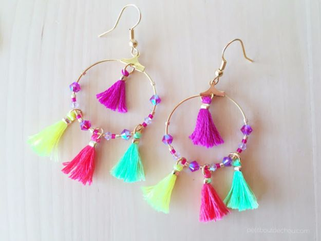Cool Summer Fashions for Teens - Summer Mini Tassel Earrings - Easy Sewing Projects and No Sew Crafts for Fun Fashion for Teenagers - DIY Clothes, Shoes and Accessories for Summertime Looks - Cheap and Creative Ways to Dress on A Budget http://diyprojectsforteens.com/diy-summer-fashion-teens