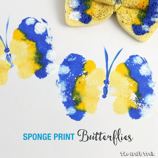 DIY Ideas With Butterflies - Sponge Print Butterflies - Cute and Easy DIY Projects for Butterfly Lovers - Wall and Home Decor Projects, Things To Make and Sell on Etsy - Quick Gifts to Make for Friends and Family - Homemade No Sew Projects- Fun Jewelry, Cool Clothes and Accessories #diyideas #butterflies #DIY Ideas With Butterflies - Sponge Print Butterflies - Cute and Easy DIY Projects for Butterfly Lovers - Wall and Home Decor Projects, Things To Make and Sell on Etsy - Quick Gifts to Make for Friends and Family - Homemade No Sew Projects- Fun Jewelry, Cool Clothes and Accessories #diyideas #butterflies #teencraftsteencrafts