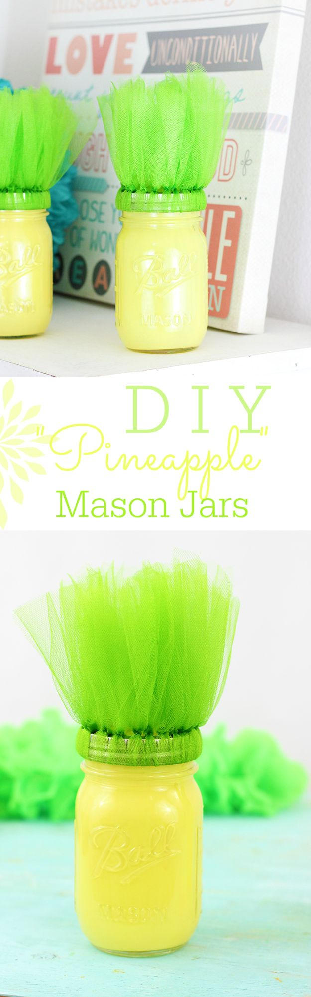 Pineapple Crafts - DIY Pineapple Mason Jars - Cute Craft Projects That Cool DIY Gifts - Wall Decor, Bedroom Art, Jewelry Idea