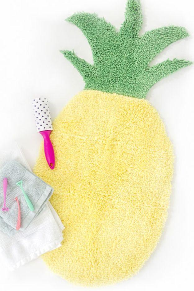 Pineapple Crafts - Ananasvormige badmat - Leuke knutselprojecten die coole doe-het-zelf geschenken maken - wanddecor, slaapkamerkunst, sieradenidee