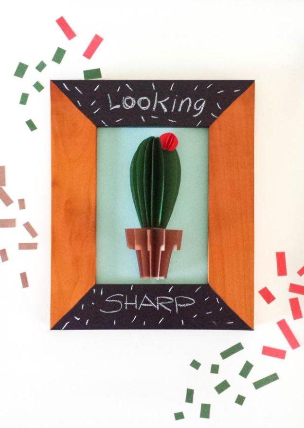 DIY Wall Art Ideas for Teens - Cactus Wall Art DIY - Teen Boy and Girl Bedroom Wall Decor Ideas - Goedkope canvasschilderijen en wandkleden voor kamerdecoratie