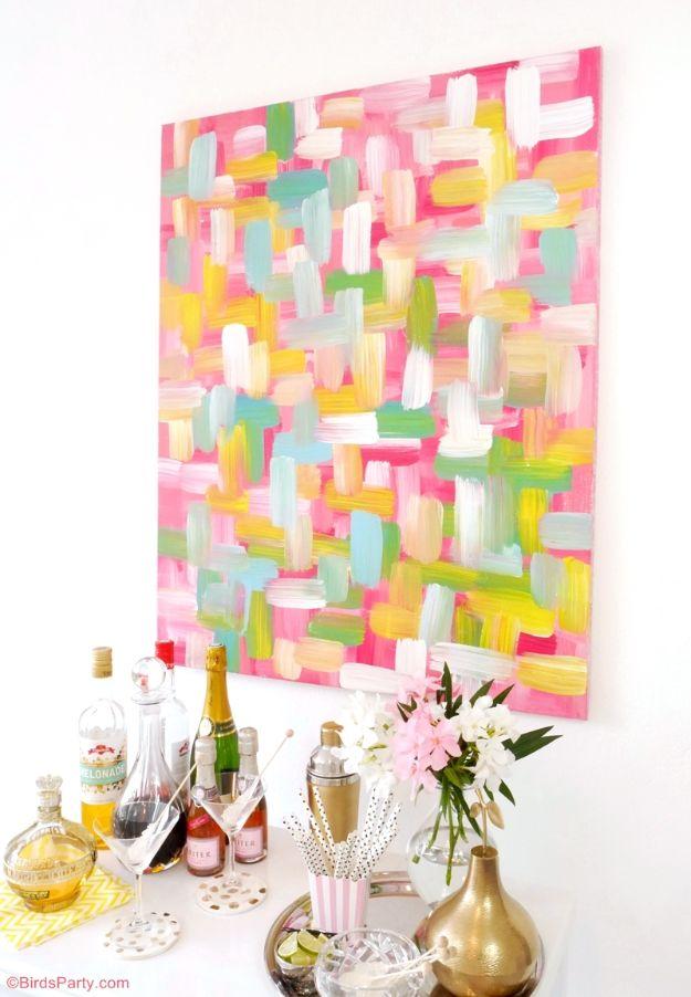 DIY Wall Art Ideas for Teens - Easy DIY Wall Art Painted Canvas - Teen Boy and Girl Bedroom Wall Decor Ideas - Goedkope canvas schilderijen en wandkleden voor kamerdecoratie