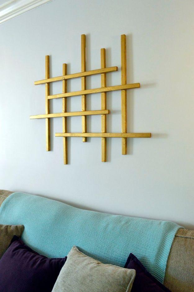 DIY Wall Art Ideas for Teens - Gold Wall Art - Teen Boy and Girl Bedroom Wall Decor Ideas - Goedkope canvas schilderijen en wandkleden voor kamerdecoratie