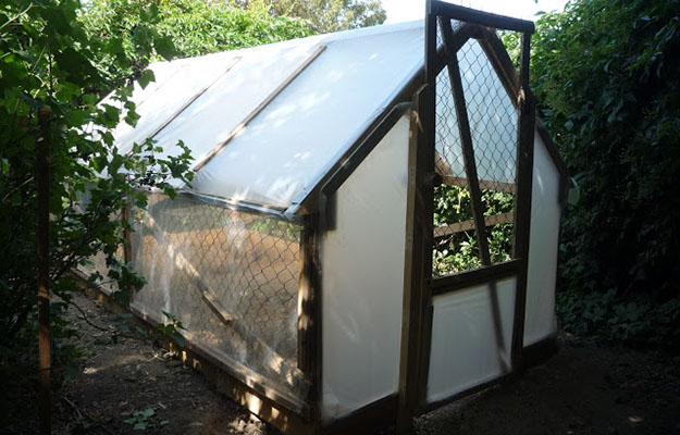wood pallet greenhouse