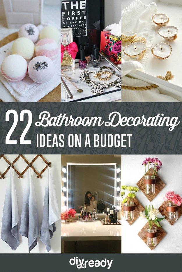 Bathroom Decorating Ideas on a Budget DIY Ready on Bathroom Ideas On A Budget  id=36265