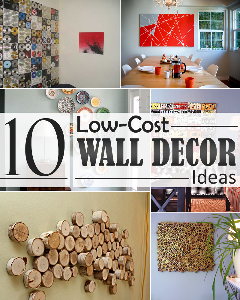 10 Low-Cost Wall Decor Ideas that Completely Transform The ... on Wall Decoration  id=50719