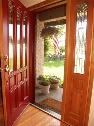 Custom Single Panel Retractable Screen Door Kit with Heavy Duty Pet Resistant Screen
