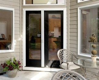 Custom Double Panel Retractable Screen Door Kit with Heavy Duty Pet Resistant Screen