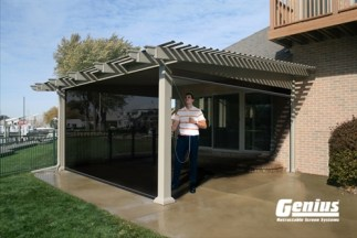 Genius Olympic Pull Down Large Opening Retractable Screen