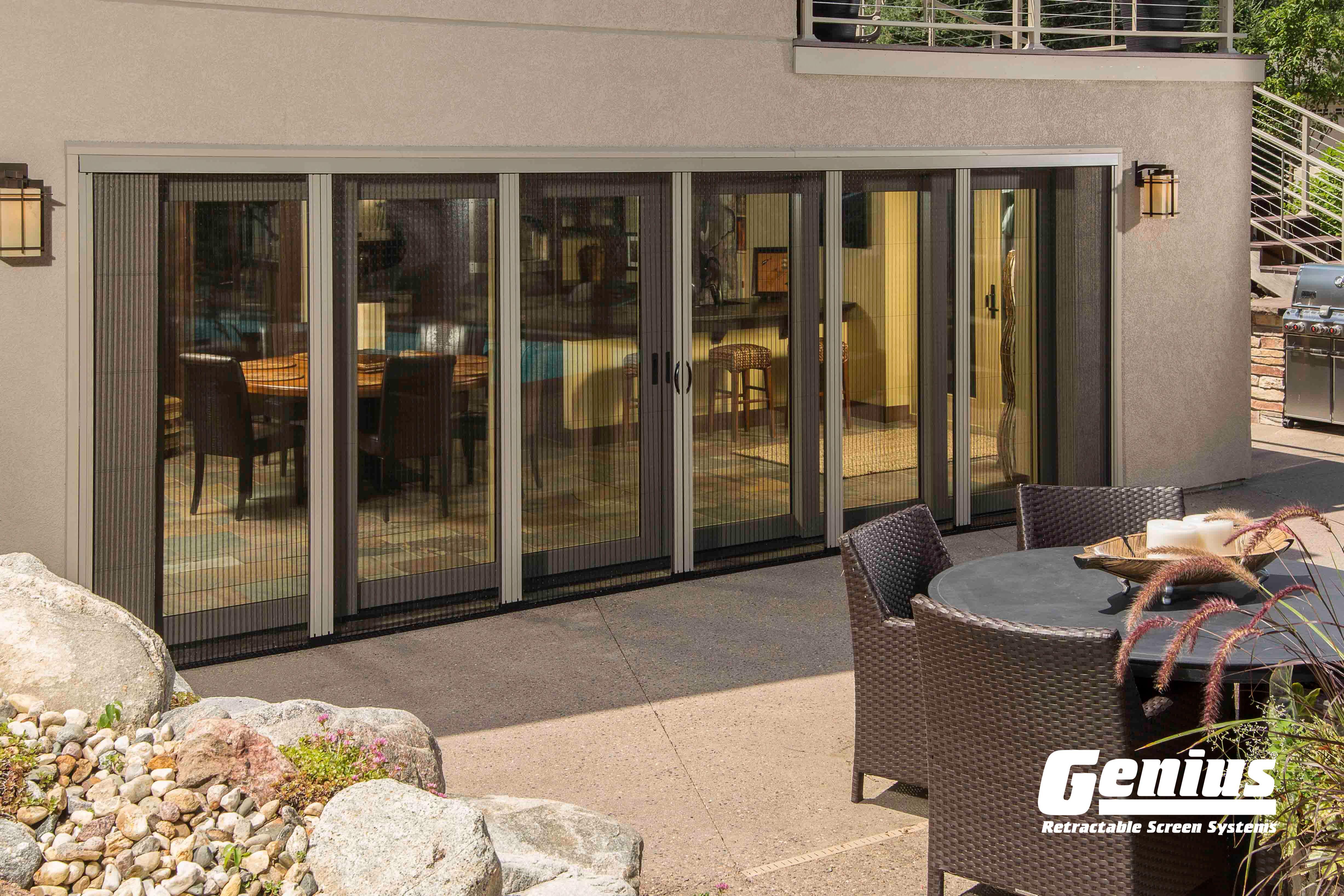 Genius Sheer Screen Advance Retractable Screen Door