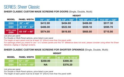 Pleated Custom Screen Pricing