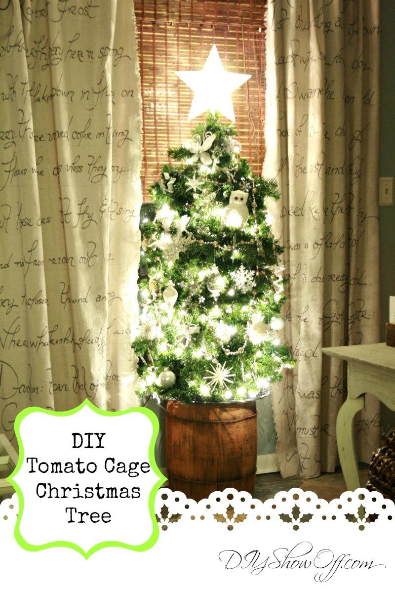 Diy Tomato Cage Christmas Trees