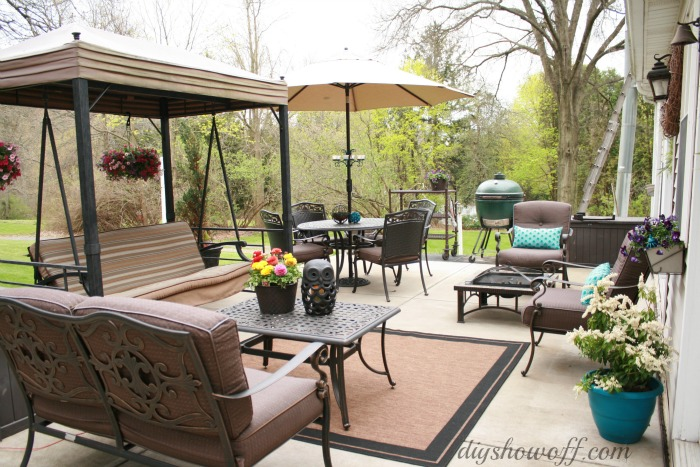 Patio MakeoverDIY Show Off ™ - DIY Decorating and Home ... on Backyard Patio Makeover id=67047