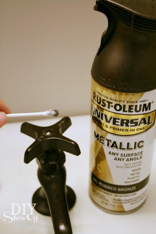 How Spray Paint Bathroom Faucets