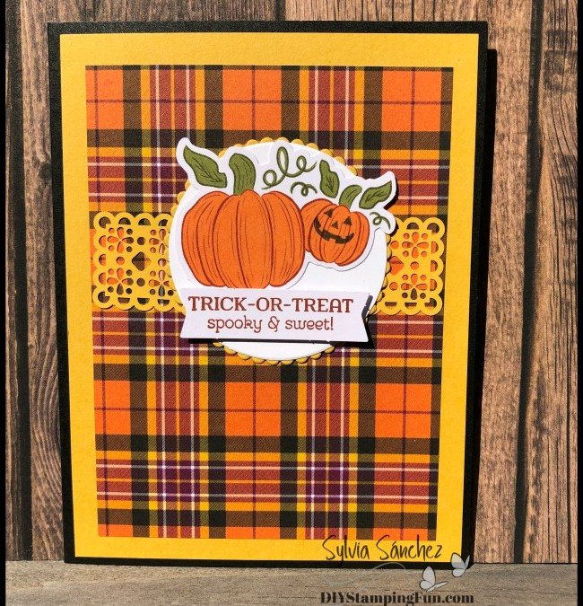 Fun Alternative Paper Pumpkin Card