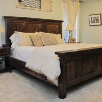 DIY Pottery Barn Farmhouse Bed