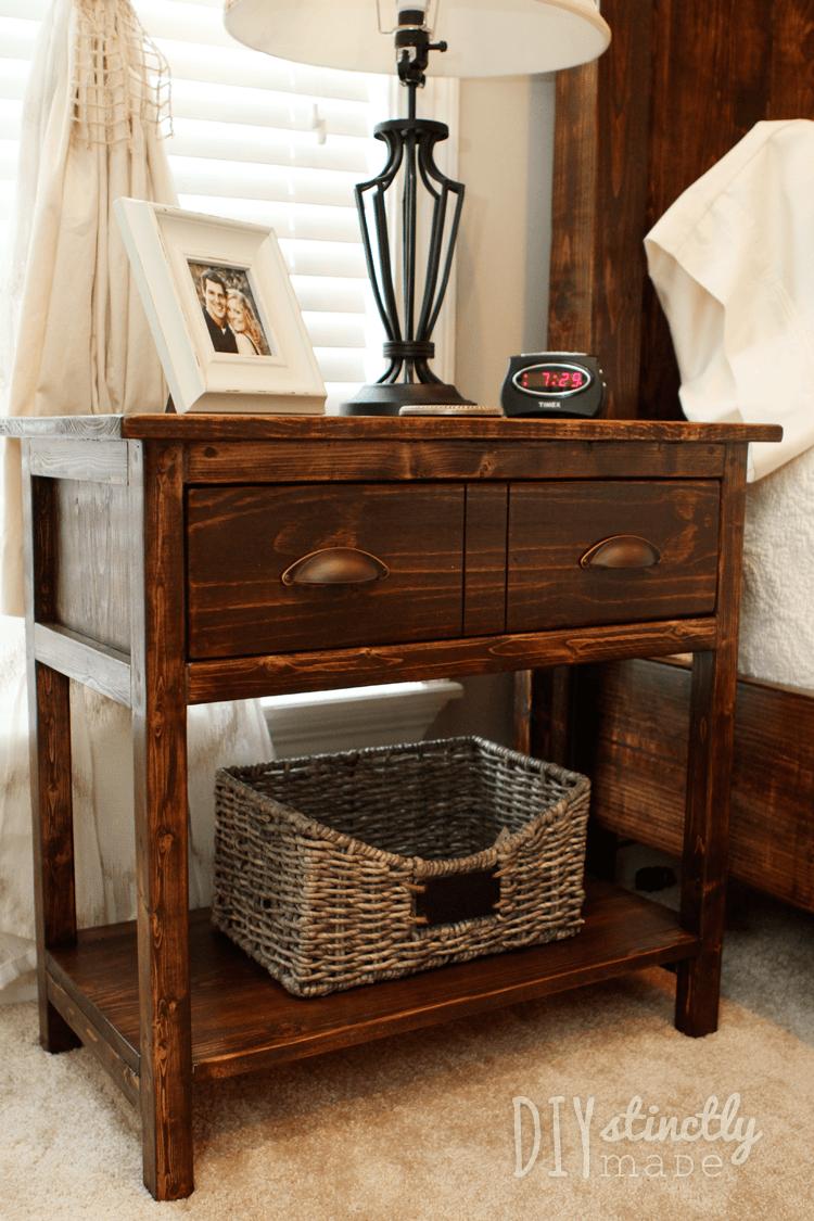 Diy Farmhouse Bedside Tables Diystinctly Made