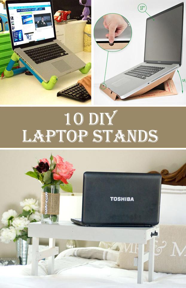 10 Ucuz ve Yaratıcı DIY Dizüstü Bilgisayar Standları