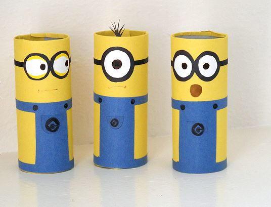 DIY Karton Tüp Minion El Sanatları