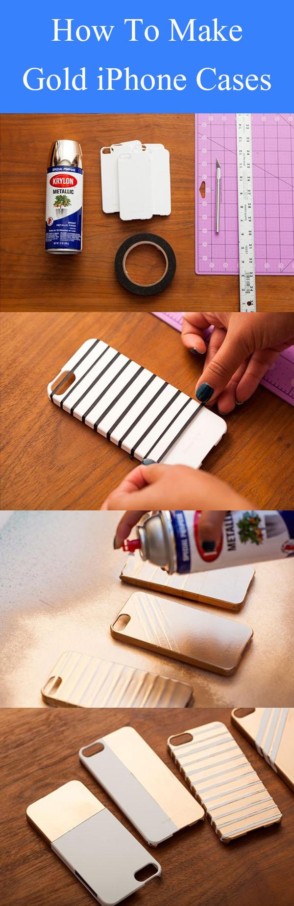 DIY Altın iPhone Kılıfları