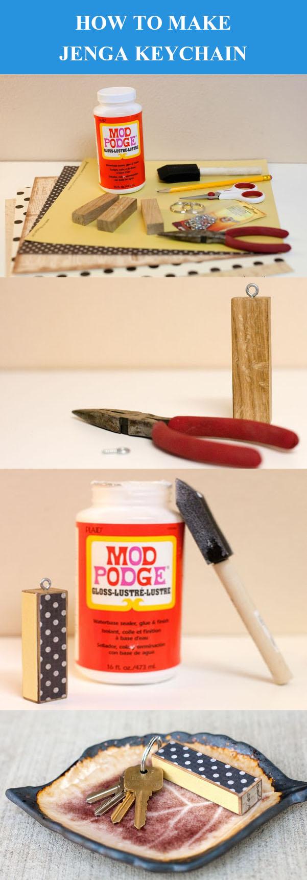 DIY Jenga Anahtarlık