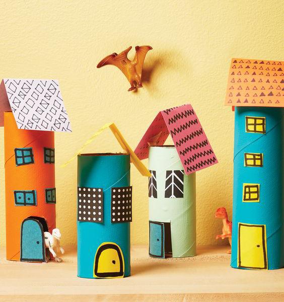 DIY Mini Kağıt Şehri