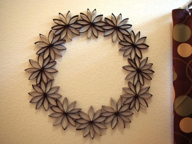 DIY Kağıt Çiçek Çelengi