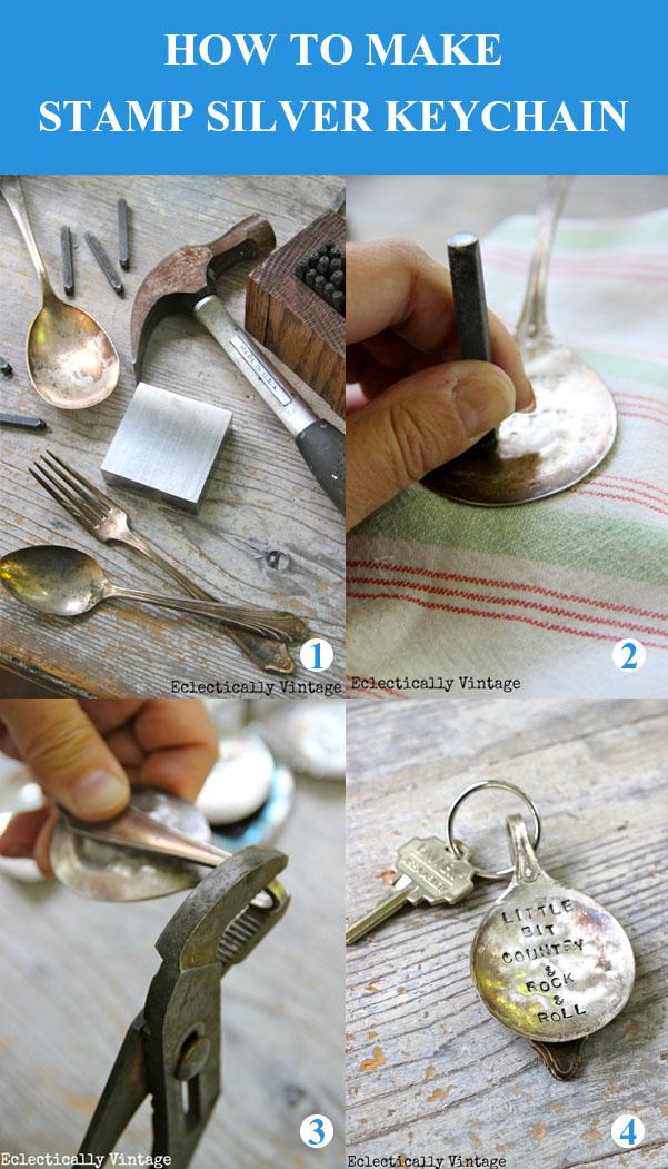 DIY Damga Gümüş Anahtarlık