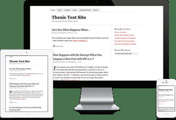 responsiveness in thesis wordpress theme