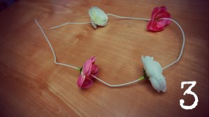 DIY faux flower crown headband