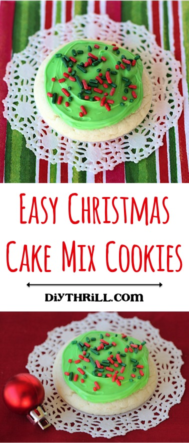 Easy Christmas Cake Mix Cookies Recipe from DIYThrill.com